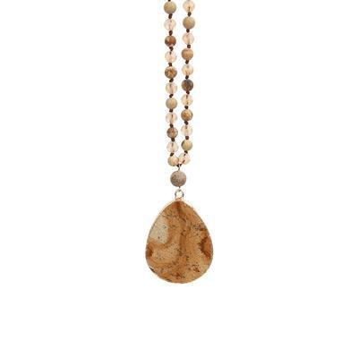 Amazonite Beaded Stone Necklace