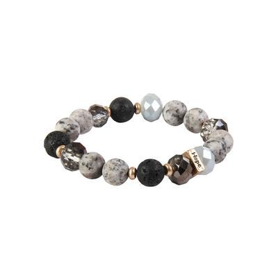Amazonite Faith Bracelets BLK