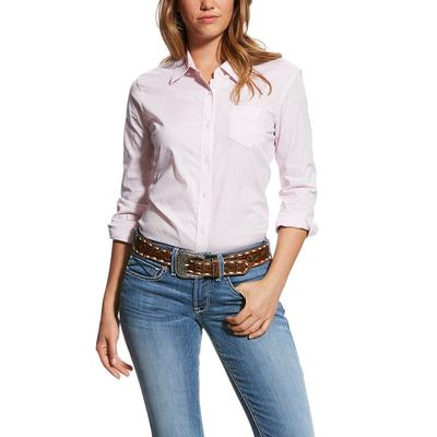 Ariat Women's Pink And White Striped Kirby Shirt