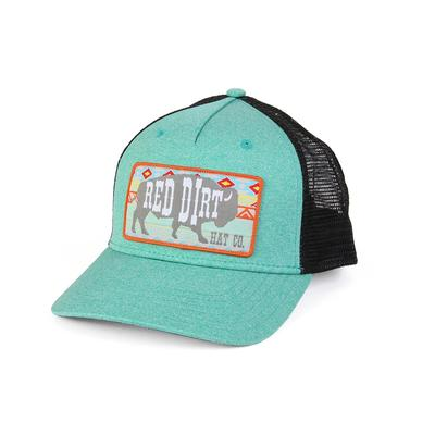 Red Dirt Hat Co.' S Aztec Heather Green And Black Cap
