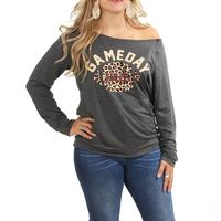 Women's Game Day Off Shoulder Sweater
