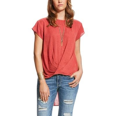 Ariat Women's Crossover Tie High- Low Chester Top
