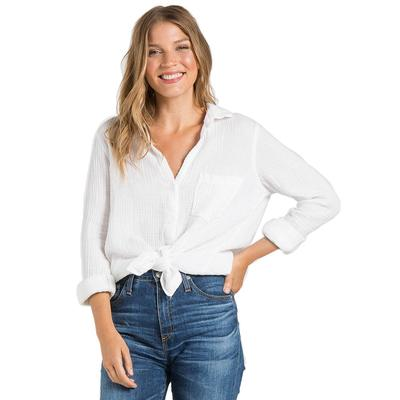 Bella Dahl Women's Pocket Button Down Top WHITE