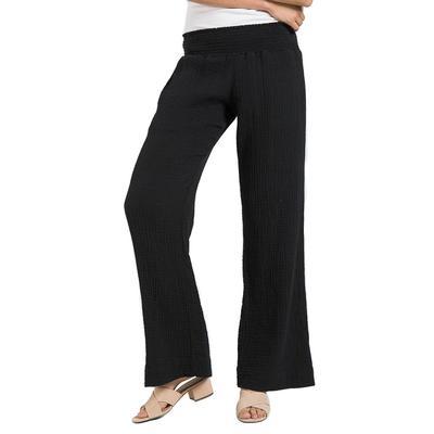 Bella Dahl Women's Smocked Waist Wide Leg Pant