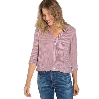 Bella Dahl Women's Spiced Wine Pocket Button Down Top