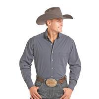 Panhandle Slim Men's Navy and Light Blue Geometric Print Tuf Cooper Shirt