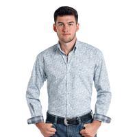 Panhandle Slim Men's Blue Paisley Print Rough Stock Shirt