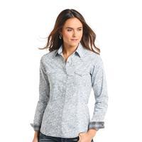 Panhandle Slim Women's Blue Paisley Print Rough Stock Shirt