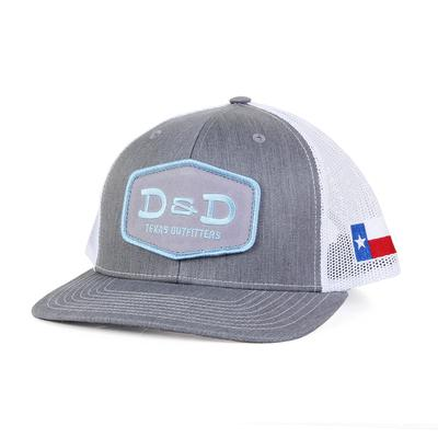 91b85083 D&D Texas Outfitters Heather Grey and Blue Cap