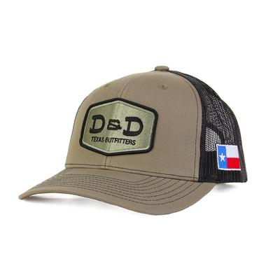 D & D Texas Outfitters Army Green And Black Cap