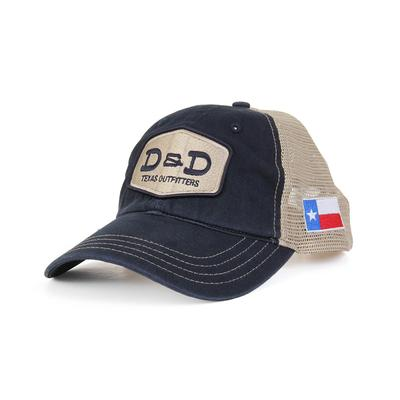 D & D Texas Outfitters Navy Blue And Khaki Cap