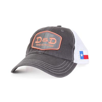 D & D Texas Outfitters Charcoal And Peach Cap