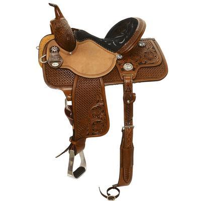 Reinsman By Circle Y Molly Powell Flex Fit Barrel Saddle 14.5