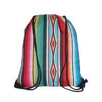 Serape Drawstring Backpack