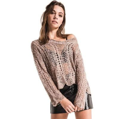 Black Swan Women's Raina Open Knit Sweater