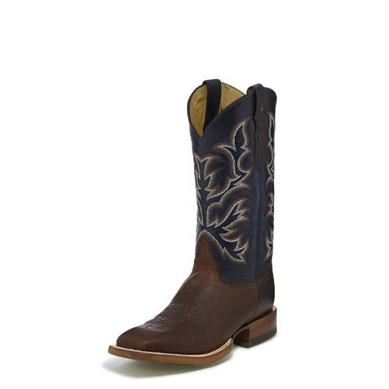78310f328dc Justin Mens Hillel Antique Saddle Smooth Ostrich Boot