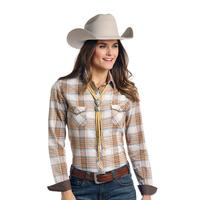Panhandle Slim Women's Ombre Plaid Rough Stock Shirt