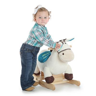 Wrangler Infant Girl's Turquoise Plaid Shirt