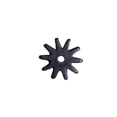Partrade Metalab 10 Point Black Satin Rowel