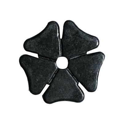 Partrade Metalab Black Satin Cloverleaf Rowel