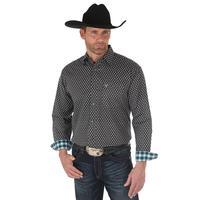 Wrangler Men's Black Geo Print 20X Competition Advanced Comfort Shirt