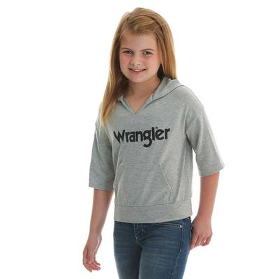 Wrangler Girl's Half Sleeve Cropped Logo Hoodie
