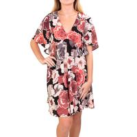 Uncle Frank Women's Pink Floral Ruffle Dress
