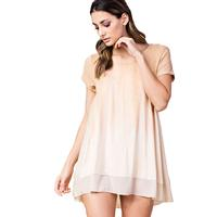 Kori America Women's Plus Cream and Apricot Top