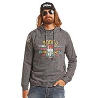 Rock & Roll Denim Men's Dale Brisby Rodeo Time Skull Hoodie