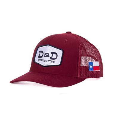 D & D Texas Outfitters Solid Maroon Cap