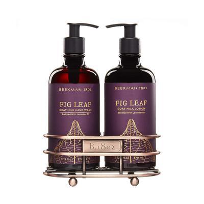 Beekman's Fig Leaf Hand Care Caddy Set