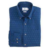 Southern Tide Men's Dot Clip Indigo Sport Shirt