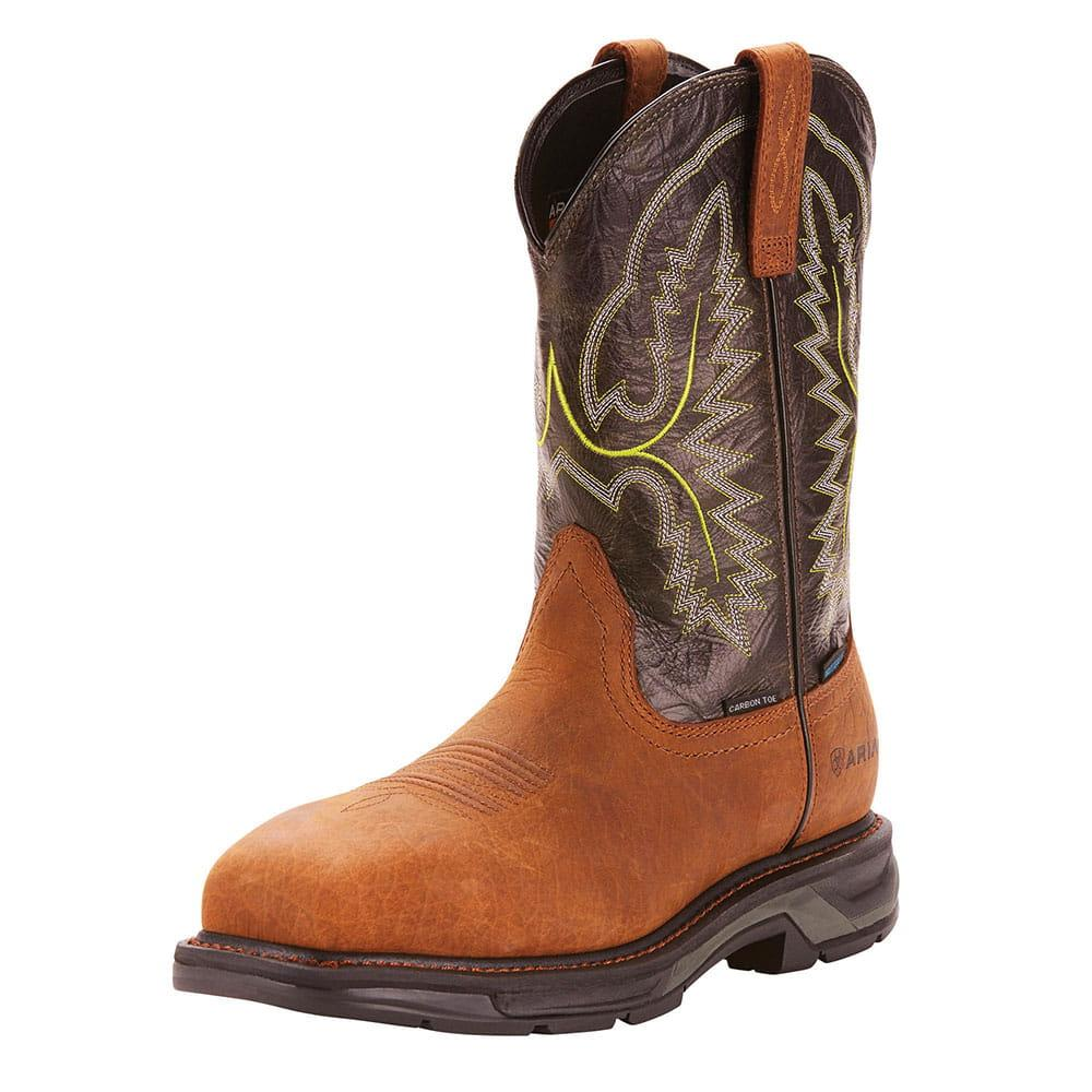 035ccc12e73 Ariat Mens Tumbled Bark Workhog Xt Waterproof Carbon Toe Work Boots
