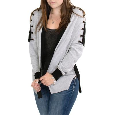 Black Tape Women's Lace Up Cardigan