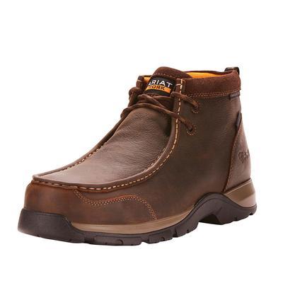 Ariat Men's Dark Brown Edge Lte Waterproof Compostire Toe Shoes