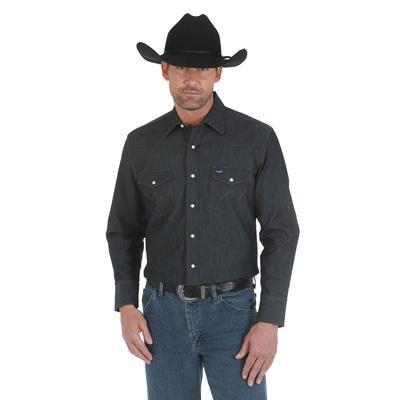 Wrangler Men's Advance Comfort Cowboy Cut Denim Work Shirt