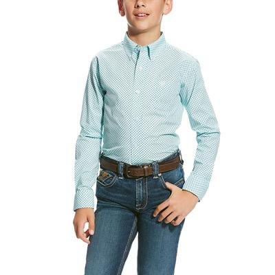Ariat Boy's Vancaster Print Button Down Shirt