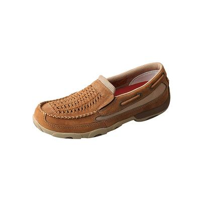 Twisted X Women's Distressed Saddle Slip-On Driving Moccasins
