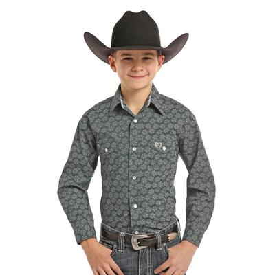 Panhandle Slim Boy's Long Sleeve Printed Snap Shirt