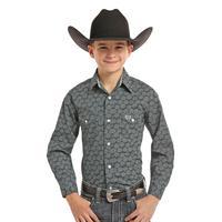 Panhandle Slim Boy's Long Sleeve Printed Snap Shirt