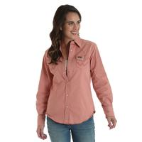 Wrangler Women's Old Rose Western Snap Shirt