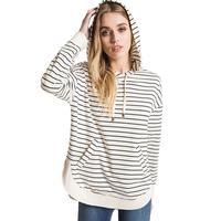 Z Supply Women's Striped Dakota Pullover Hoodie