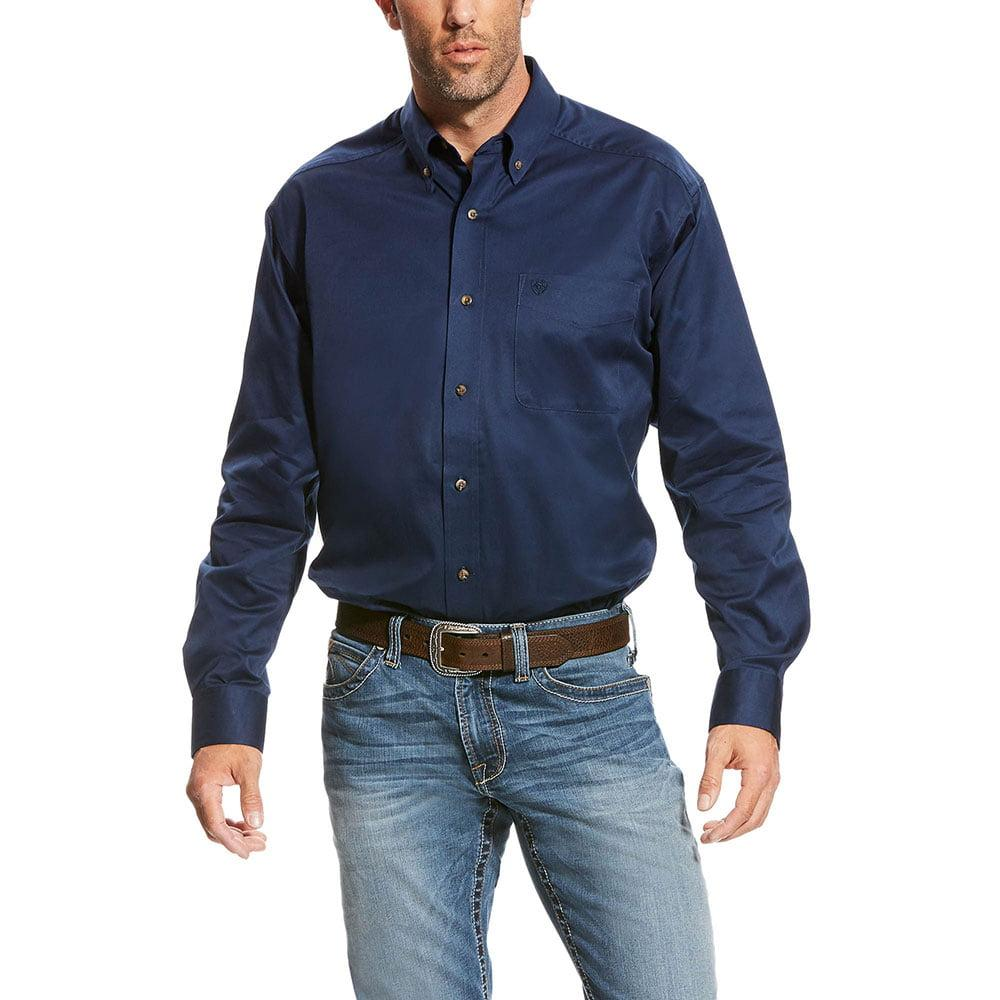 83bf96ac Ariat Men's Deep Pacific Solid Twill Shirt