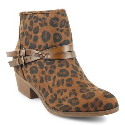 Blowfish Women's Leopard San Fran-B Ankle Boot BRNLEOPARD