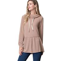 Kori America Women's Turtle Neck With Frill Top