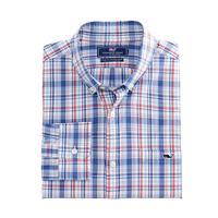 Vineyard Vines Men's Duke's Country Plaid Slim Tucker Shirt