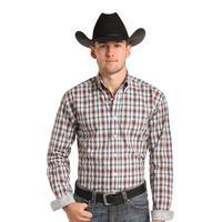 Panhandle Slim Men's Clarendon Vintage Ombre Plaid Shirt