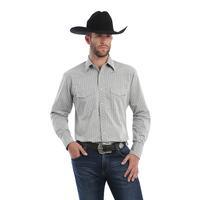 Wrangler Men's Silver Edition Grey Snap Shirt