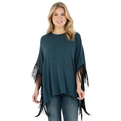 Wrangler Women's Turquoise Fringed Poncho
