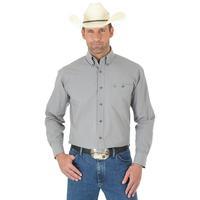 Wrangler Men's Solid Grey George Strait Shirt